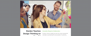 Darden Partners with NovoEd to Teach Design Thinking
