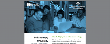 Philanthropy University: Training Social Change Leaders