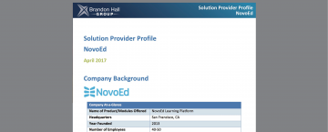 Brandon Hall Group NovoEd Solution Profile