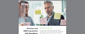 +Acumen and IDEO.org partner with NovoEd to Teach Human-Centered Design Thinking
